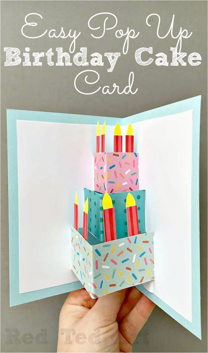 easy pop up birthday card diy red ted art 39 s blog