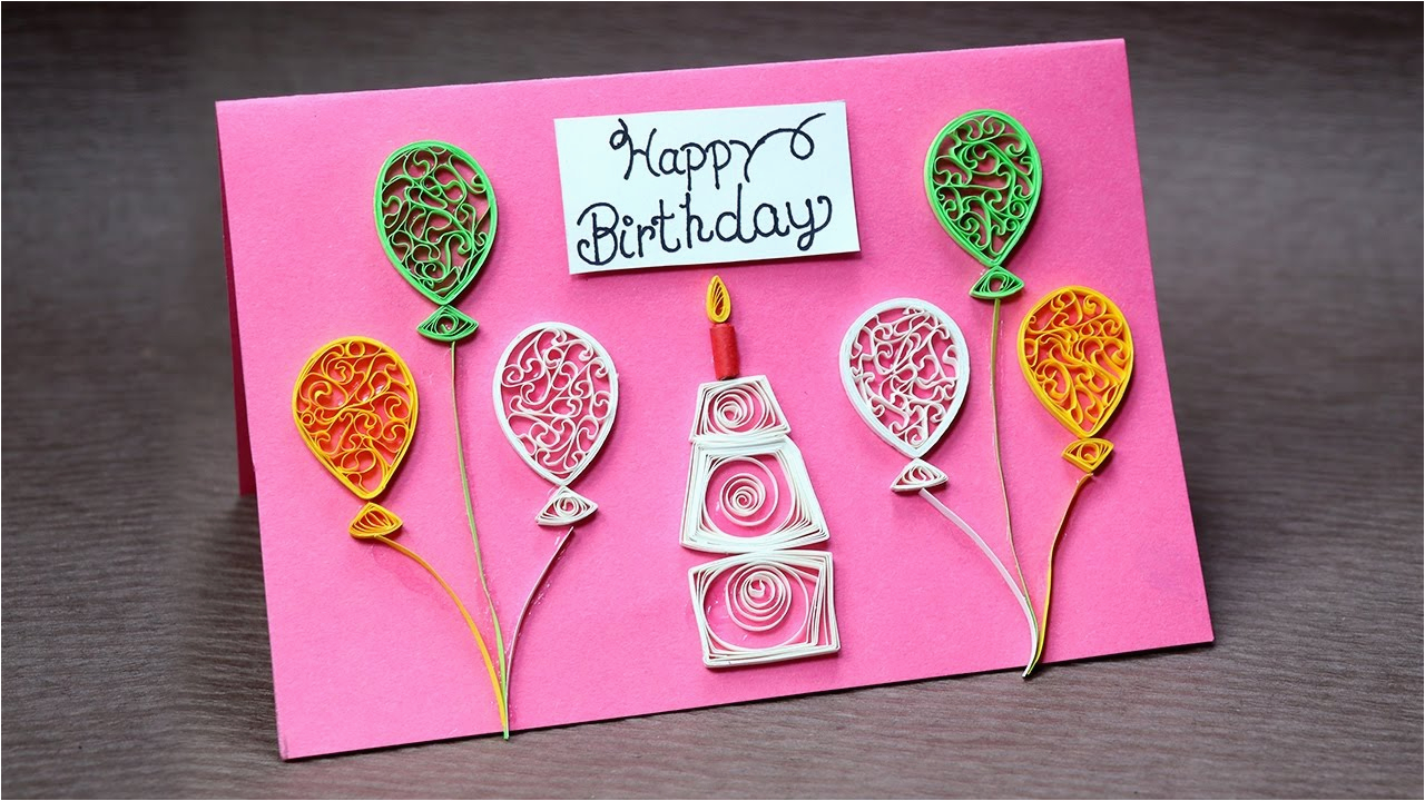 diy birthday card for beginners very easy quilling