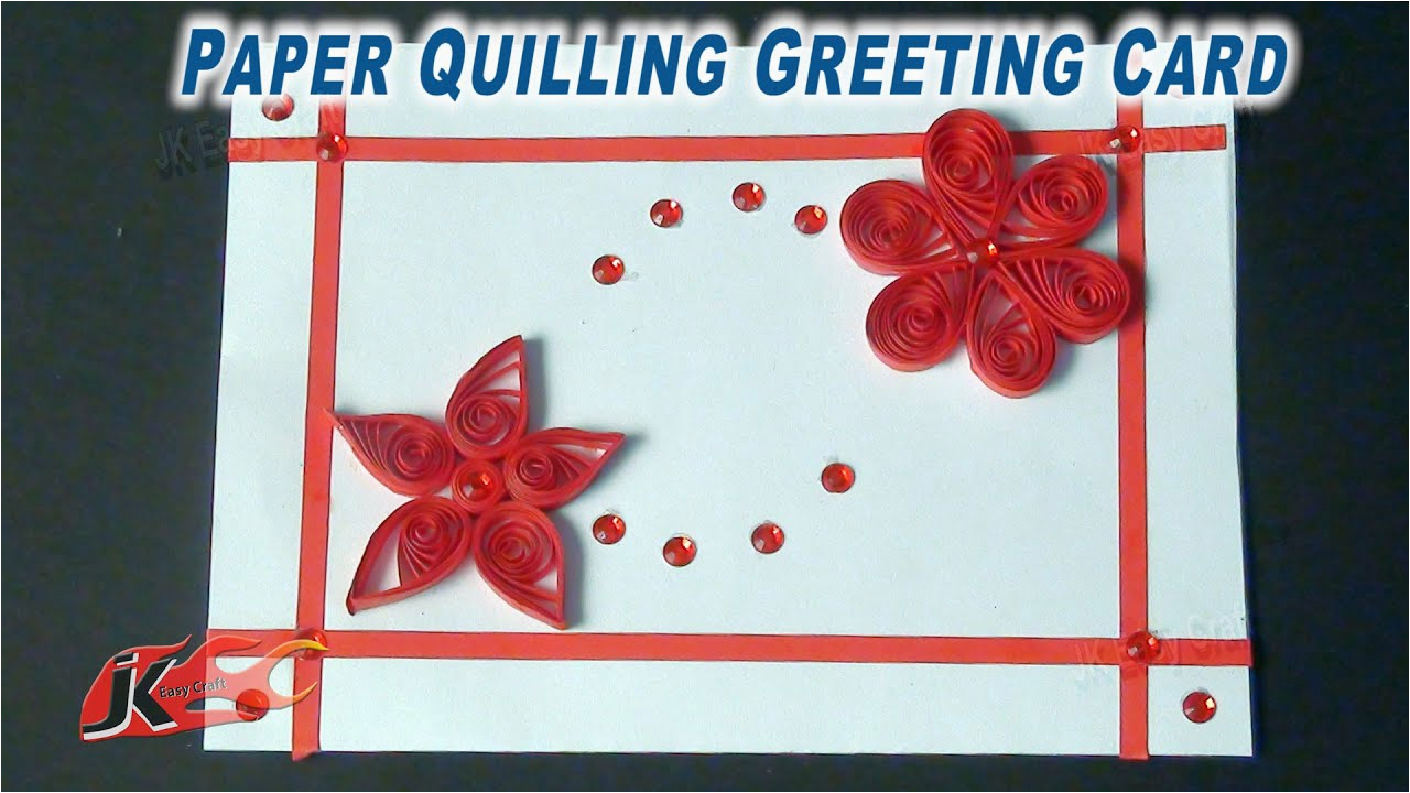 diy easy paper quilling greeting card how to make jk