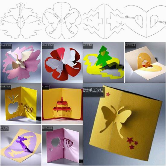 wonderful diy 3d kirigami cards with 18 templates