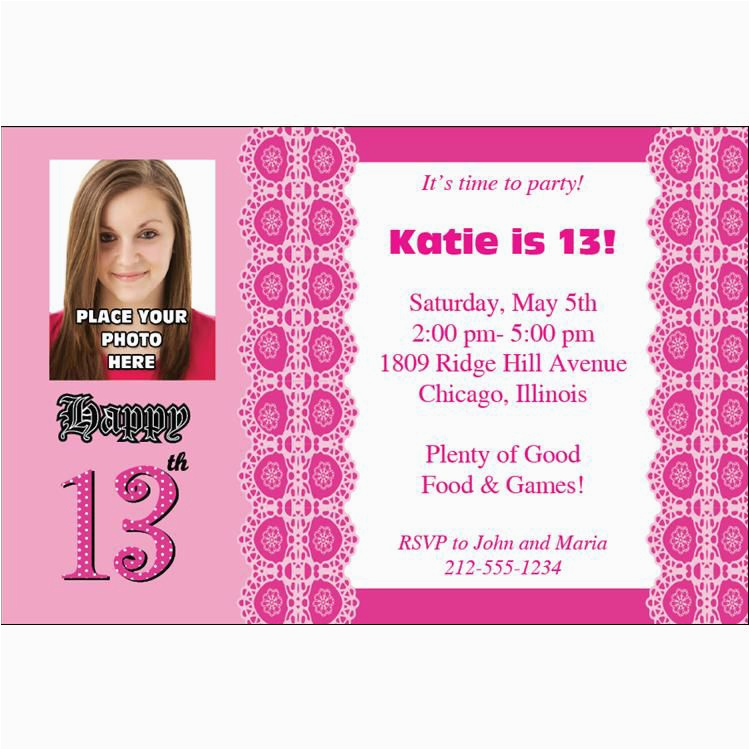 How To Make 13th Birthday Party Invitations Ideas