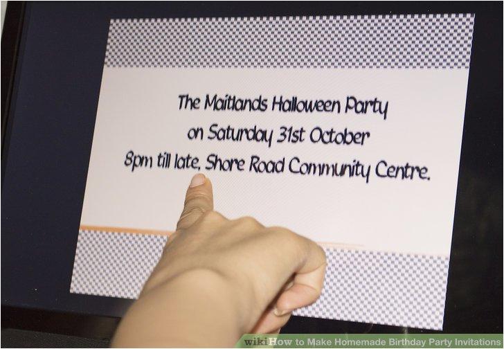 make homemade birthday party invitations