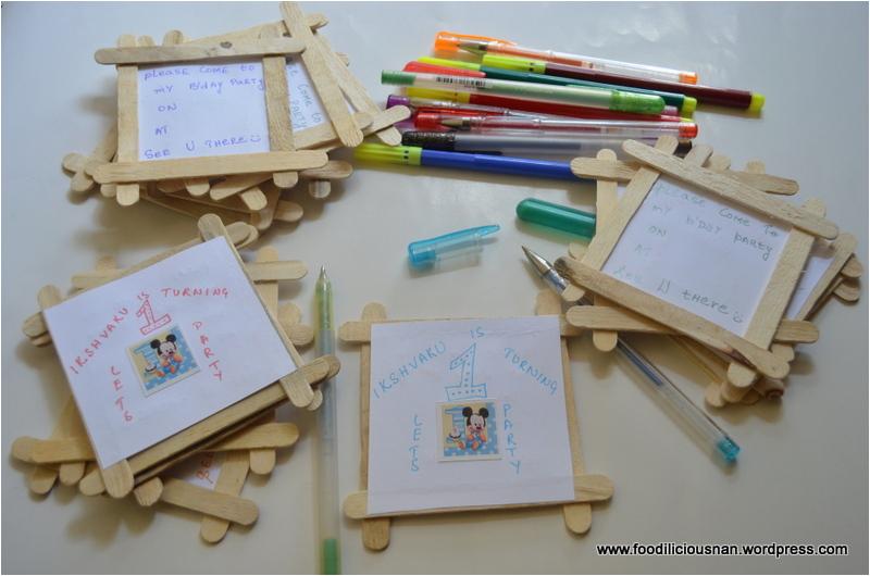 handmade birthday invites
