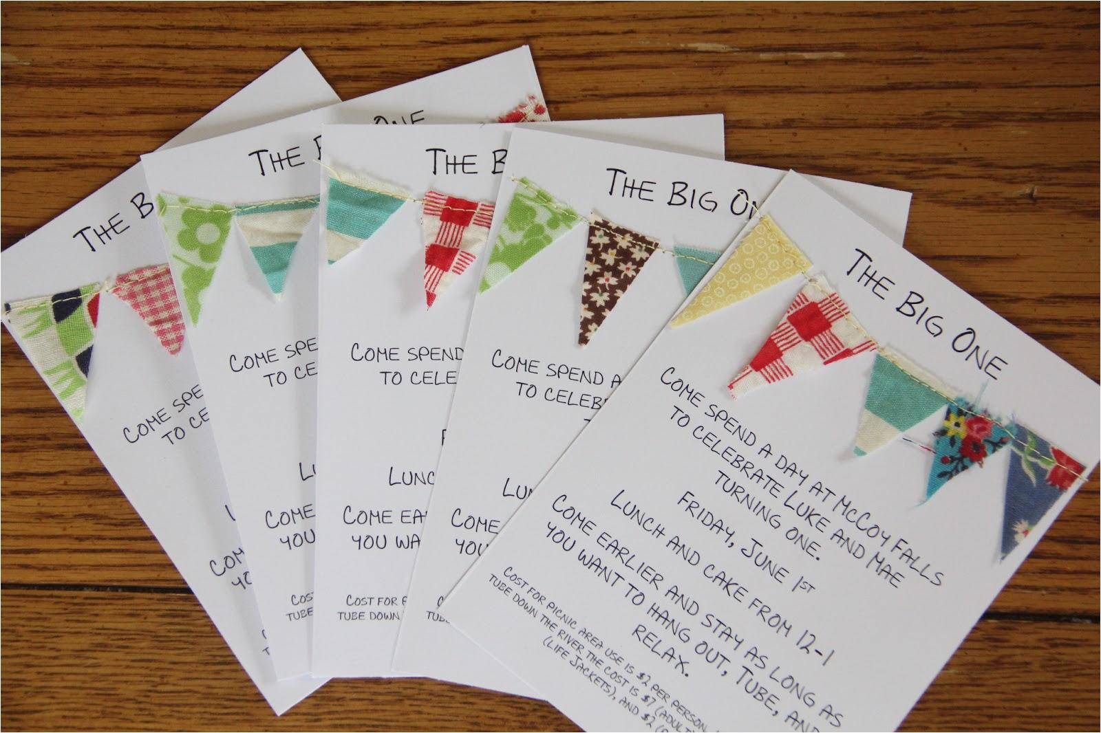 homemade birthday invitation cards