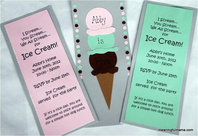 day 172 homemade ice cream birthday