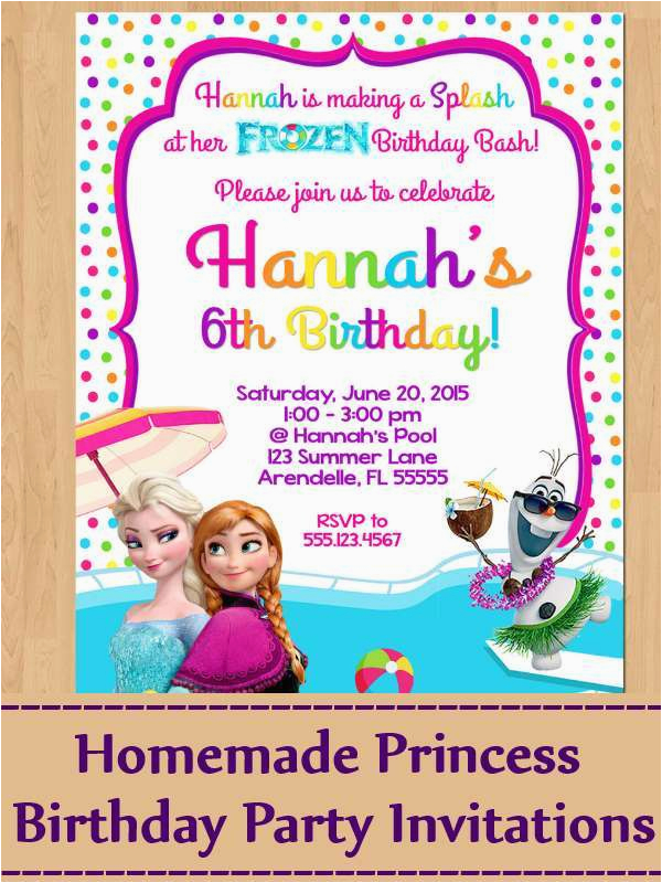 How To Make Homemade Birthday Invitations Ideas For Princess Party