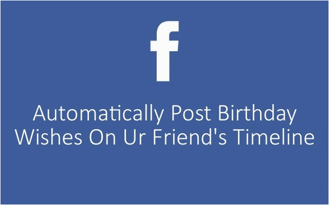 automatically post on your friends facebook