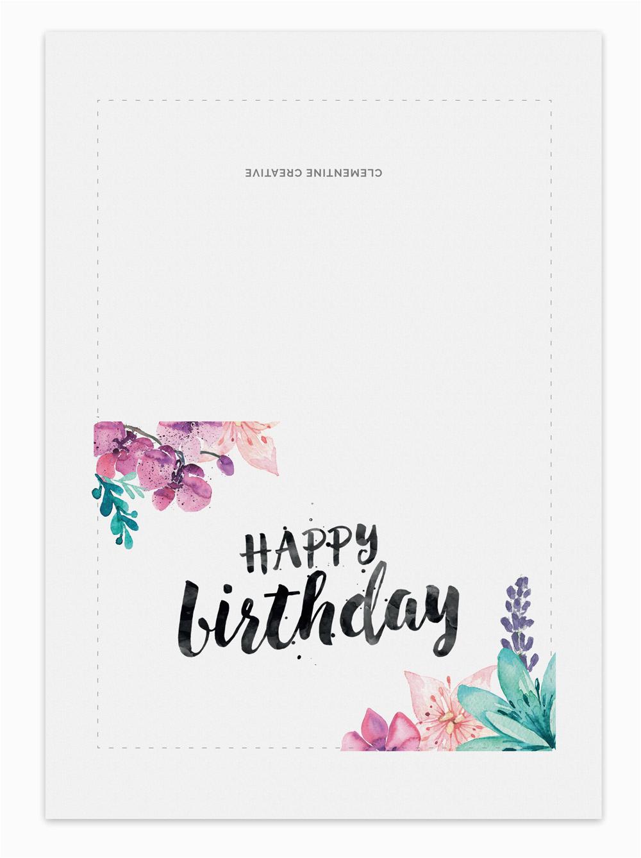 printable birthday card secret garden