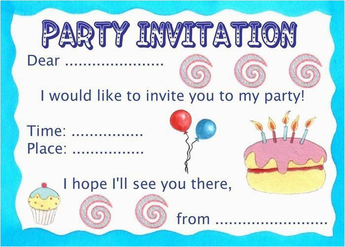 print birthday party invitations