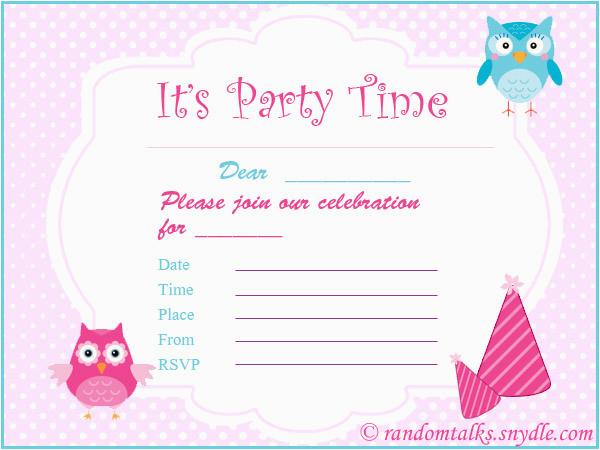 How To Print Birthday Invitations At Home Free Printable Random Talks