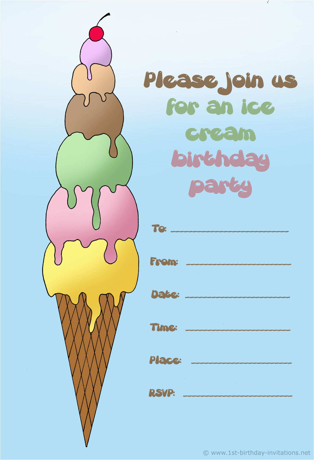 How to Print Birthday Invitations for Free 14 Printable Birthday Invitations Many Fun themes