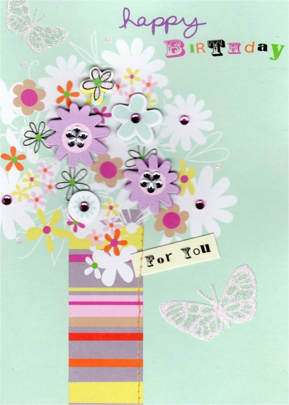 vase flowers handmade birthday card cards love kates