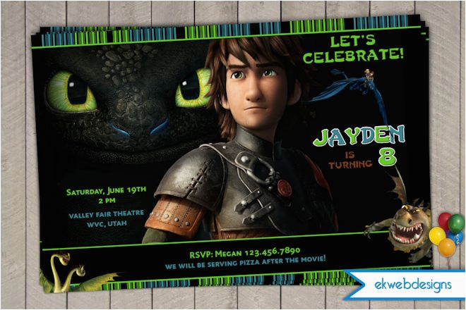 how to train your dragon 2 birthday invitation birthday party invitations