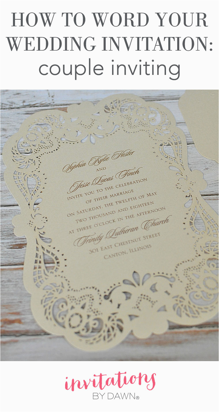 How to Word A Birthday Invitation How to Word Your Wedding Invitations Couple Inviting