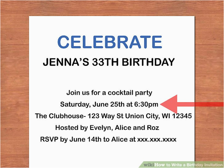 write a birthday invitation