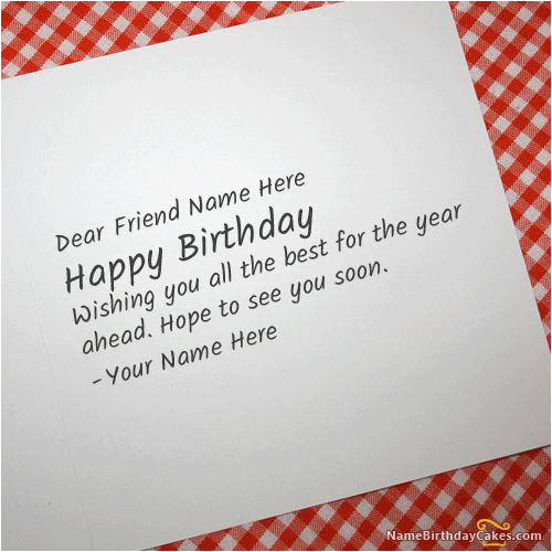 How to Write A Good Birthday Card Cool Birthday Card for Any Friend with Name