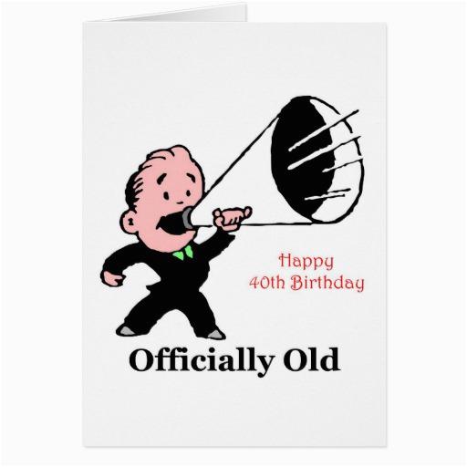 Humorous 40th Birthday Cards Hilarious Quotes Quotesgram