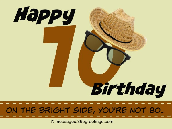 70th birthday wishes
