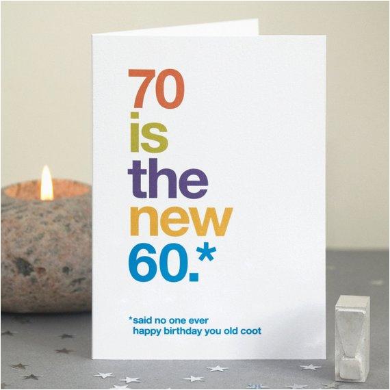 funny 70th birthday card 70 card