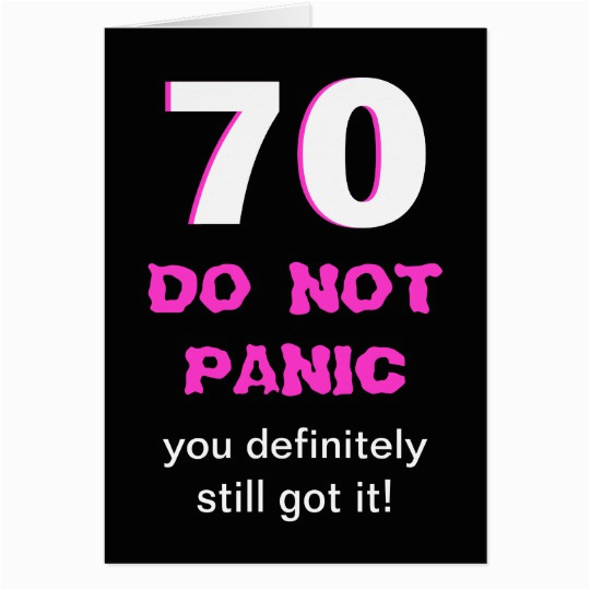 Humorous 70th Birthday Cards Funny Card For Women Zazzle Com