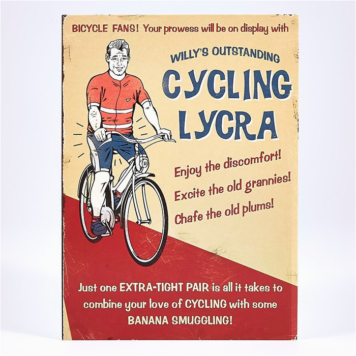 humour birthday card cycling lycra card factory