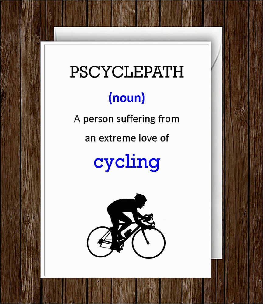 Humorous Cycling Birthday Cards Humour Funny Greeting Card Father