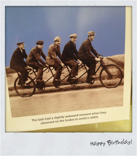 it 39 s my birthday cue the mandatory cycling cards