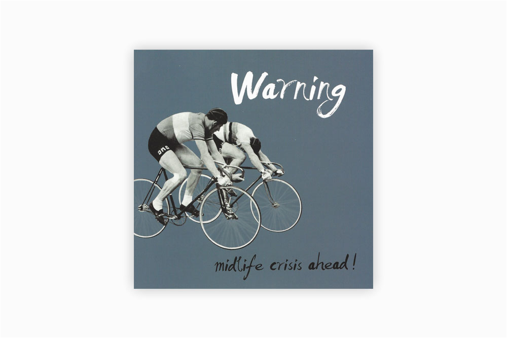 mid life crisis bicycle birthday card cyclemiles