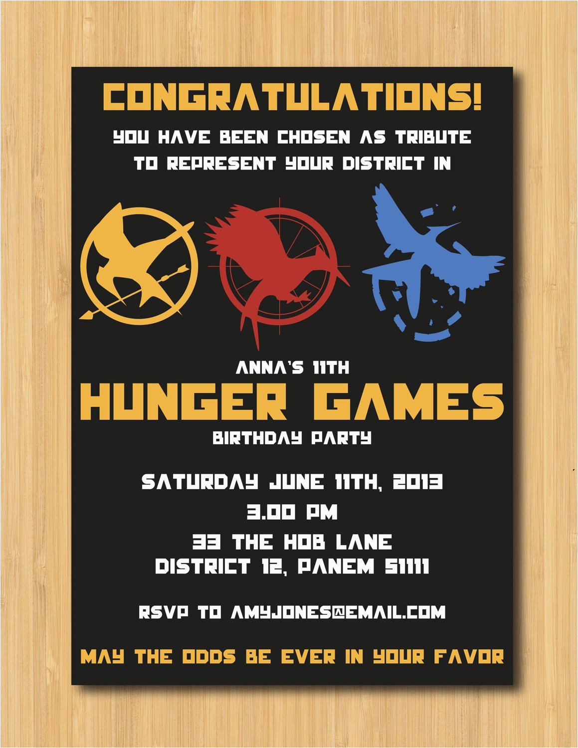 hunger games printable birthday party