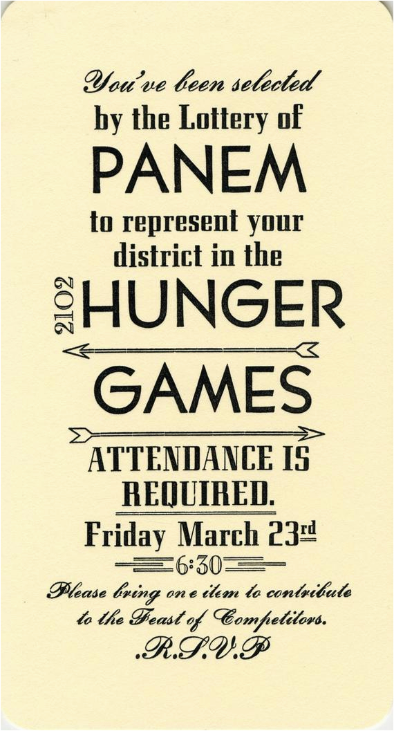 hunger games party invitations 10