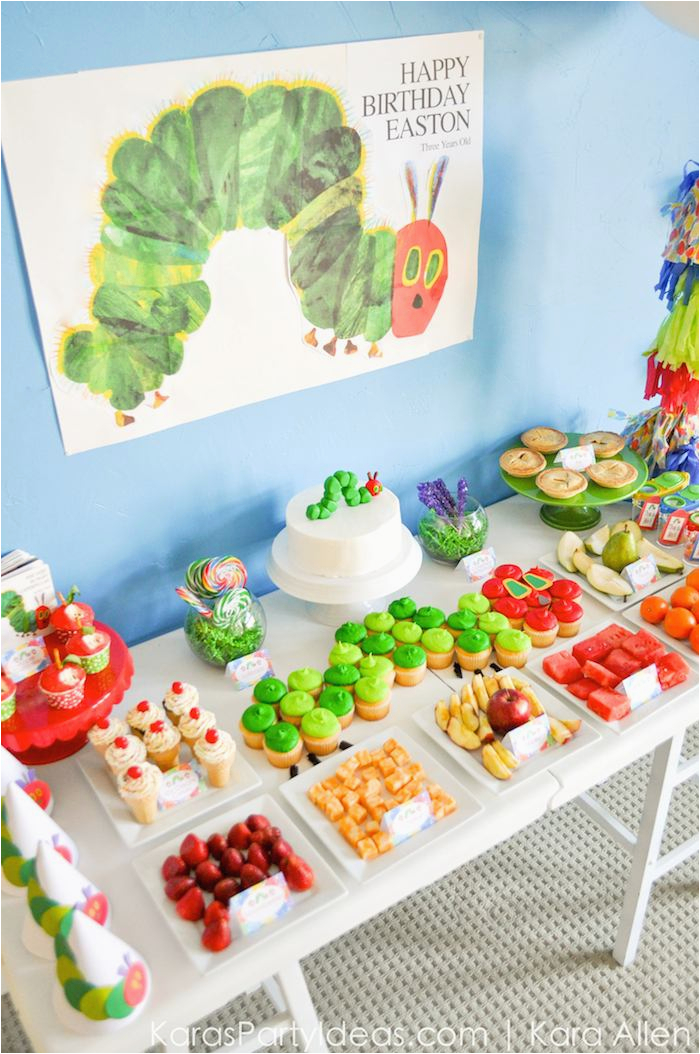 Hungry Caterpillar Birthday Decorations Kara 39 S Party Ideas the Very Hungry Caterpillar 3rd