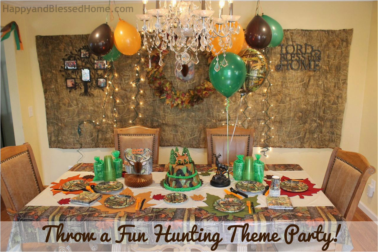 camouflage hunting theme party fun