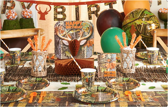 Hunting Birthday Decorations Camouflage Hunting theme Party Fun Happy and Blessed Home