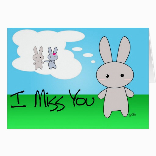 i miss you greeting card 137632296583619918