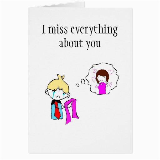 i miss you greeting card 137965975265270639