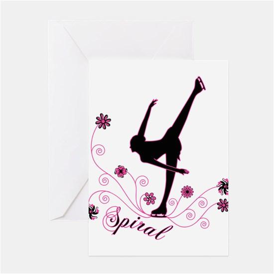 figure skating greeting cards cafepress