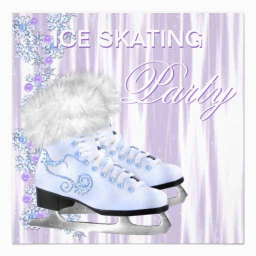 ice skating party card zazzle
