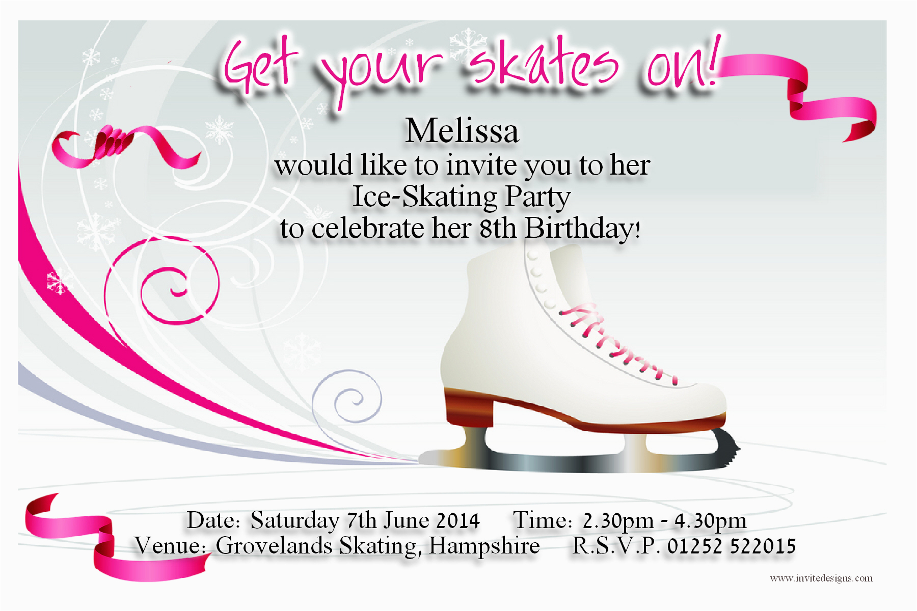 image regarding Free Printable Skating Party Invitations named Ice Skating Birthday Get together Invites Cost-free Printable Simplest