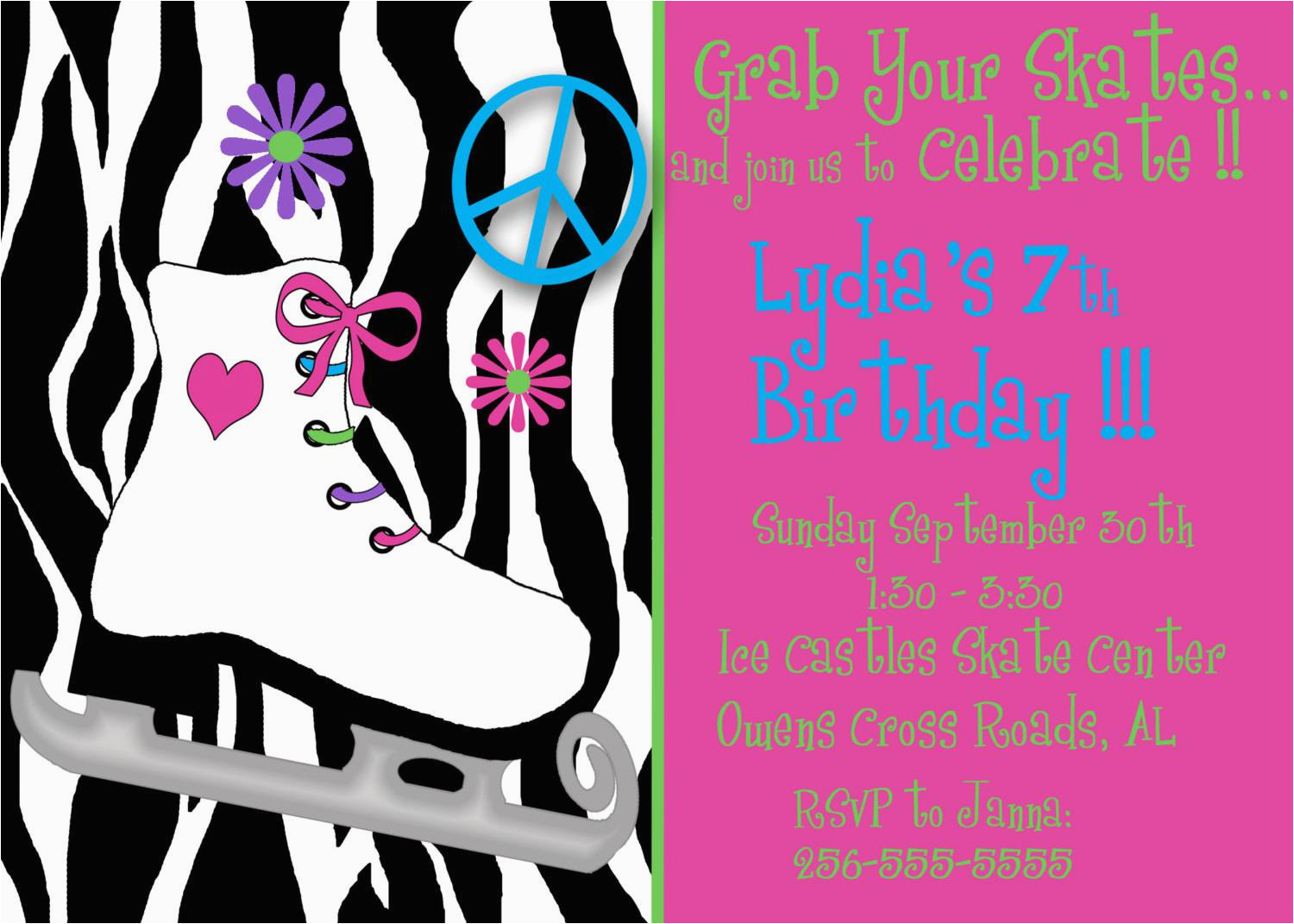graphic regarding Free Printable Skating Party Invitations called Ice Skating Birthday Occasion Invites Free of charge Printable