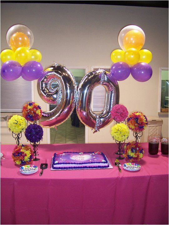 90th birthday party ideas decorations