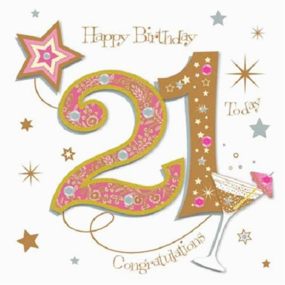 Kctpmwer0008 Happy 21st Birthday Greeting Card By Talking Pictures Greetings Cards