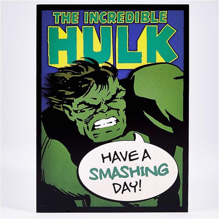 blank birthday card incredible hulk card factory