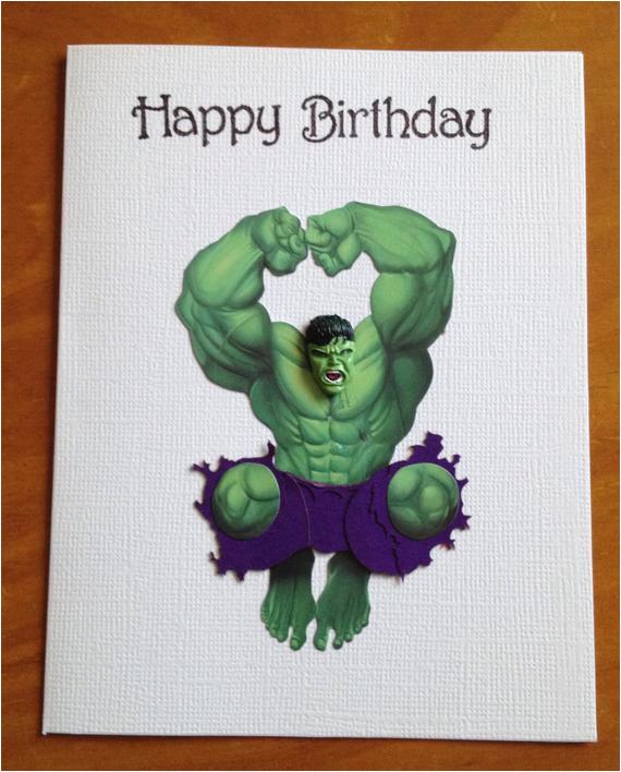 incredible hulk birthday card by daisycreationsbyjess on etsy