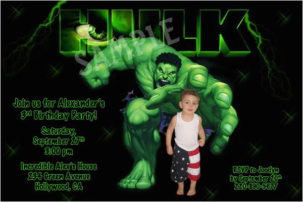 incredible hulk birthday invitations ideas bagvania free