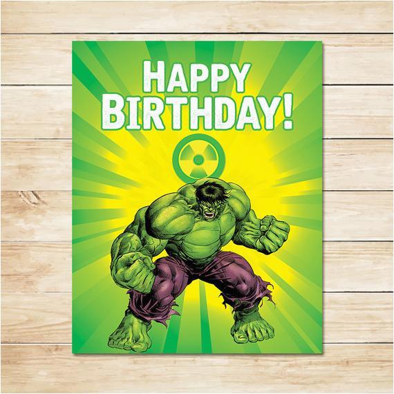 items similar to printable hulk radiation birthday sign