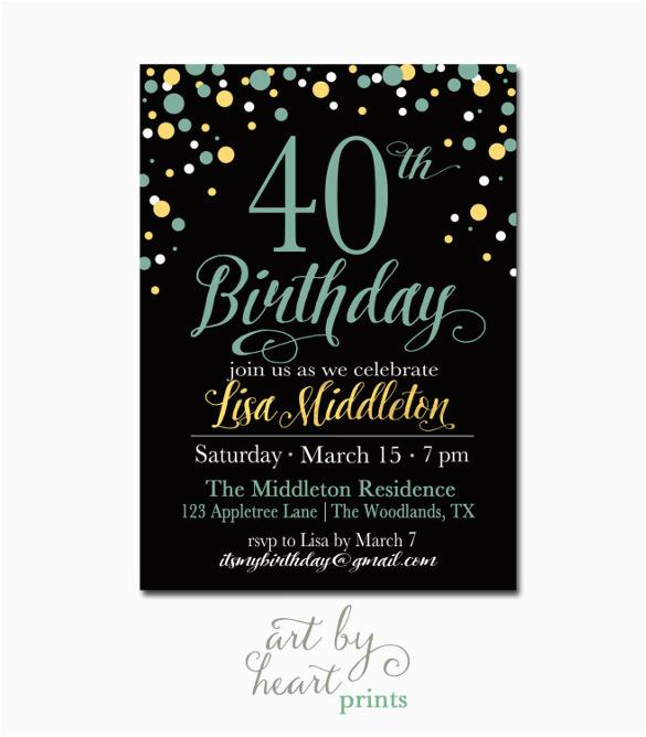 24 40th birthday invitation templates psd ai free