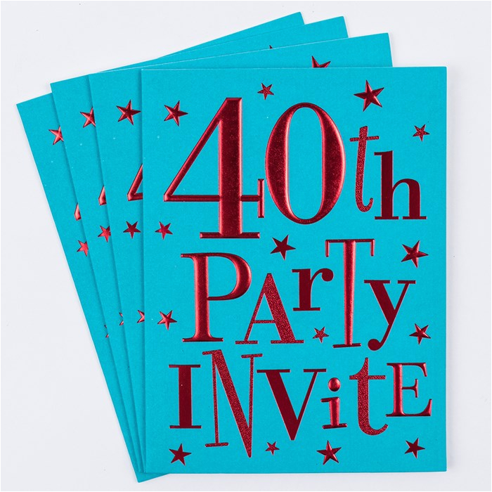 40th birthday party invitation cards pack of 10 only 1 49