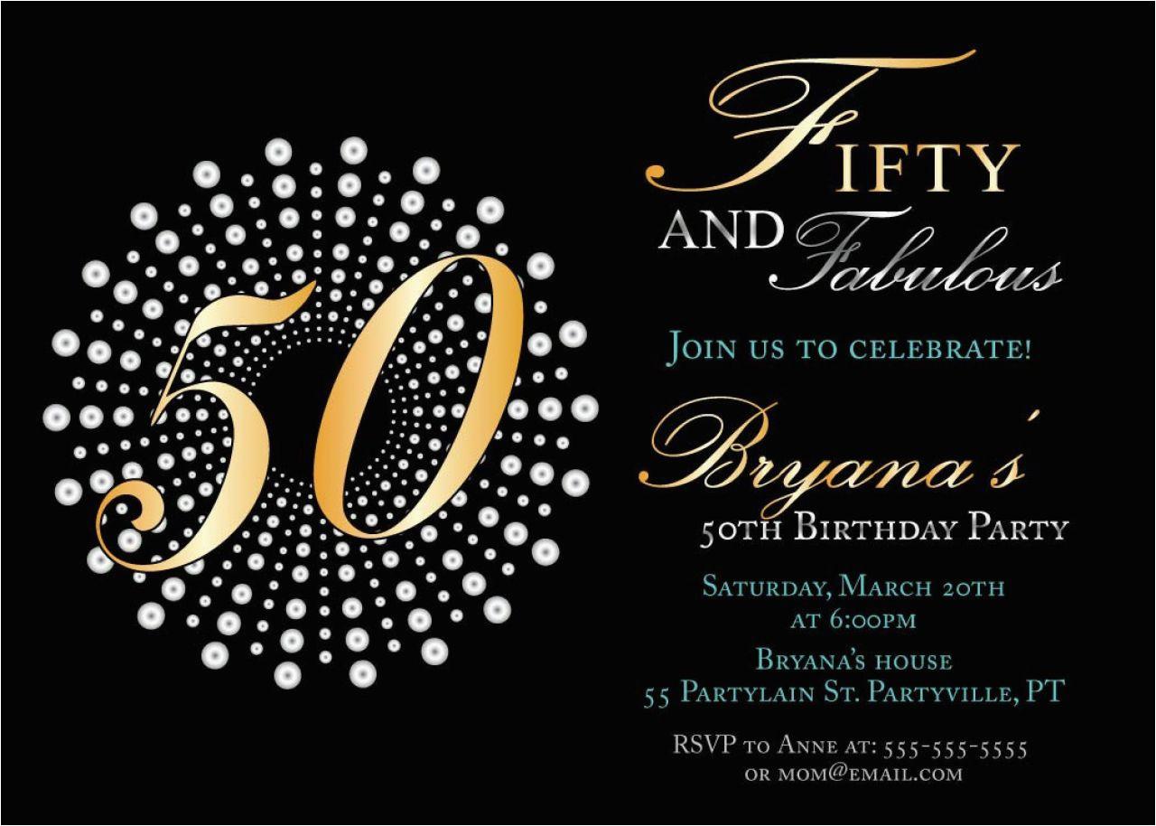best 50th birthday invitations printable