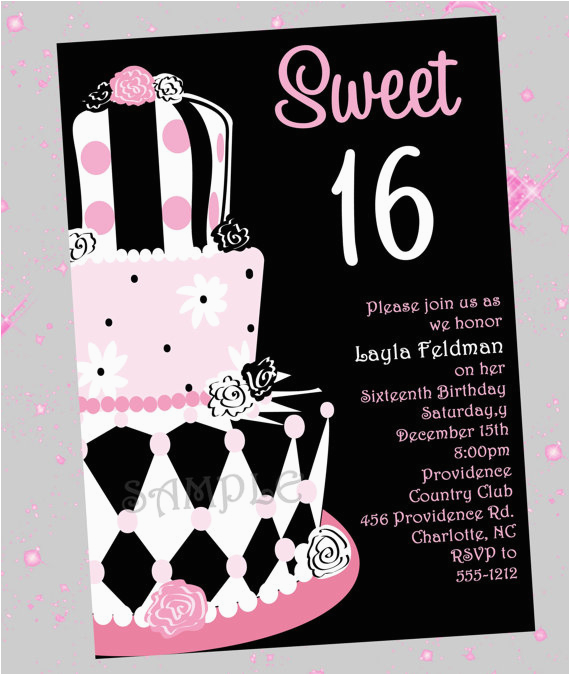 sweet 16 birthday invitations ideas wording