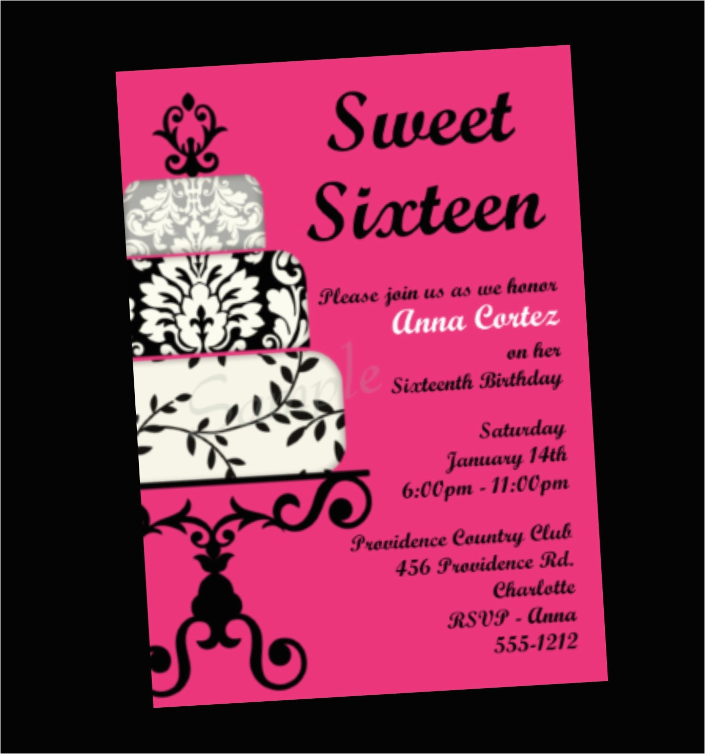 sweet 16 invitation quotes